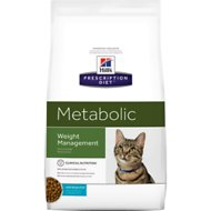 Hill's Prescription Diet Metabolic Weight Management with Ocean Fish Dry Cat Food, 4-lb bag
