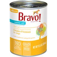 Bravo! Canine Cafe Chicken Fricassee Grain-Free Canned Dog Food, 12.5-oz, case of 12