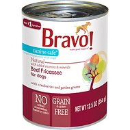 Bravo! Canine Cafe Beef Fricassee Grain-Free Canned Dog Food, 12.5-oz, case of 12