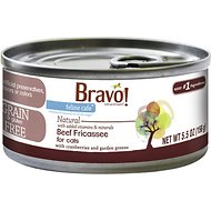 Bravo! Feline Cafe Beef Fricassee Grain-Free Canned Cat Food, 5.5-oz, case of 24