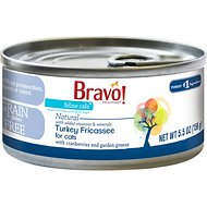 Bravo! Feline Cafe Turkey Fricassee Grain-Free Canned Cat Food, 5.5-oz, case of 24