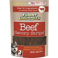 Yummy Chummies Savory Strips Beef Recipe Grain-Free Dog Treats, 5-oz bag