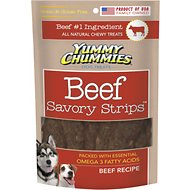 Yummy Chummies Savory Strips Beef Recipe Grain-Free Dog Treats, 20-oz bag