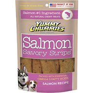 Yummy Chummies Savory Strips Salmon Recipe Grain-Free Dog Treats, 5-oz bag
