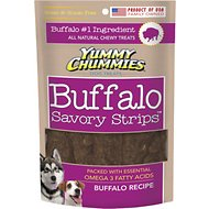 Yummy Chummies Savory Strips Buffalo Recipe Grain-Free Dog Treats, 5-oz bag