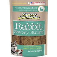 Yummy Chummies Savory Strips Rabbit Recipe Grain-Free Dog Treats, 5-oz bag
