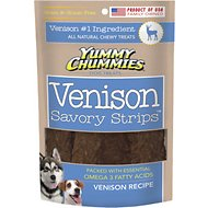 Yummy Chummies Savory Strips Venison Recipe Grain-Free Dog Treats, 5-oz bag