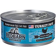 Redbarn Naturals Turkey Pate Grain-Free Canned Cat Food, 5.5-oz, case of 24