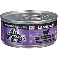 Redbarn Naturals Lamb Pate Skin & Coat Grain-Free Canned Cat Food, 5.5-oz, case of 24