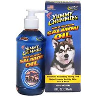 Yummy Chummies Reduced Odor Wild Alaskan Salmon Oil Dog Supplement, 8-oz bottle