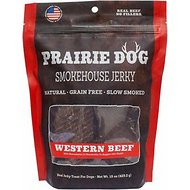 Prairie Dog Western Beef Jerky Dog Treats, 15-oz bag