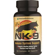 American BioSciences NK-9 Immune System Support for Dogs & Cats, 30 count