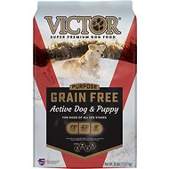 Victor Active Dog & Puppy Formula Grain-Free Dry Dog Food, 30-lb bag
