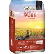 Canidae Grain-Free PURE Control Hairball Formula with Chicken Dry Cat Food, 8-lb bag