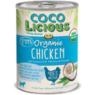 Party Animal Cocolicious 95% Organic Chicken Grain-Free Canned Dog Food, 12.8-oz, case of 12