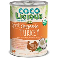 Party Animal Cocolicious 95% Organic Turkey Grain-Free Canned Dog Food, 12.8-oz, case of 12