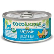 Party Animal Cocolicious Organic Chicken & Beef Canned Cat Food, 5.5-oz, case of 24