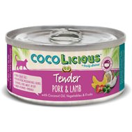 Party Animal Cocolicious Tender Pork & Lamb Grain-Free Canned Cat Food, 5.5-oz, case of 24