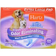 Hartz Home Protection Fresh Scent Odor Eliminating X-Large Dog Pads, 30 count