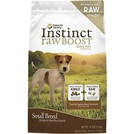 Nature's Variety Instinct Raw Boost Grain-Free Duck & Turkey Meal Formula Small Breed Dry Dog Food, 4.1-lb bag