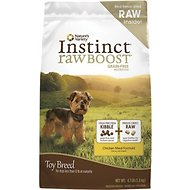 Nature's Variety Instinct Raw Boost Grain-Free Chicken Meal Formula Toy Breed Dry Dog Food, 4.1-lb bag