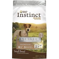 Nature's Variety Instinct Limited Ingredient Diet Turkey Meal Formula Grain-Free Small Breed Dry Dog Food, 4.1-lb bag