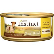 Nature's Variety Instinct Grain-Free Chicken Formula Small Breed Canned Dog Food, 5.5-oz, case of 12