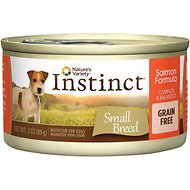 Nature's Variety Instinct Grain-Free Salmon Formula Small Breed Canned Dog Food, 3-oz, case of 24