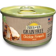 Under the Sun Grain-Free Chicken Formula Pate Canned Cat Food, 3-oz, case of 12
