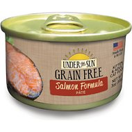 Under the Sun Grain-Free Salmon Formula Pate Canned Cat Food, 3-oz, case of 12