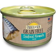Under the Sun Grain-Free Seafood Formula Pate Canned Cat Food, 3-oz, case of 12