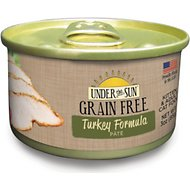 Under the Sun Grain-Free Turkey Formula Pate Canned Cat Food, 3-oz, case of 12