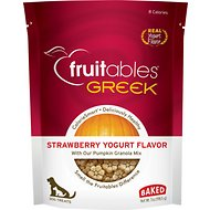 Fruitables Greek Strawberry Yogurt Flavor Crunchy Dog Treats, 7-oz bag