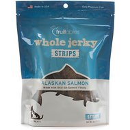 Fruitables Whole Jerky Alaskan Salmon Strips Dog Treat, 5-oz bag