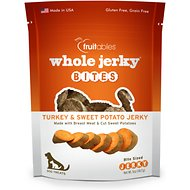 Fruitables Whole Jerky Bites Turkey & Sweet Potato Dog Treats, 5-oz bag