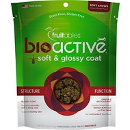 Fruitables BioActive Soft & Glossy Coat Soft Chews Dog Treats, 6-oz bag