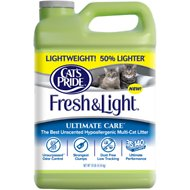 Cat's Pride Fresh & Light Ultimate Care Premium Unscented Hypoallergenic Multi-Cat Scoopable Cat Litter, 10-lb jug