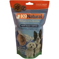 K9 Natural Beef Feast Freeze-Dried Dog Food Topper, 5-oz bag