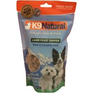 K9 Natural Lamb Feast Freeze-Dried Dog Food Topper, 5-oz bag