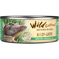 Wild Calling Alley-Gator 96% Alligator Grain-Free Adult Canned Cat Food, 5.5-oz, case of 24