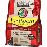 Earthborn Holistic Grain-Free Bison Meal Recipe Dog Treats, 2-lb bag