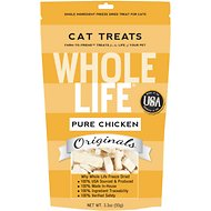 Whole Life Just One Ingredient Pure Chicken Breast Freeze-Dried Cat Treats, 3.3-oz bag