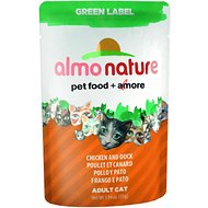 Almo Nature Green Label Chicken and Duck Adult Grain-Free Cat Food Pouches, 1.94-oz, case of 24