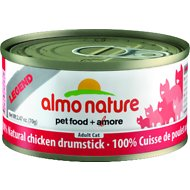 Almo Nature Legend 100% Natural Chicken Drumstick Adult Grain-Free Canned Cat Food, 2.47-oz, case of 24
