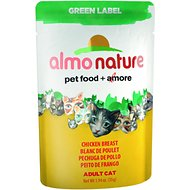 Almo Nature Green Label Chicken Breast Adult Grain-Free Cat Food Pouches, 1.94-oz, case of 24