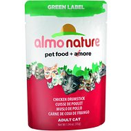 Almo Nature Green Label Chicken Drumstick Adult Grain-Free Cat Food Pouches, 1.94-oz, case of 24