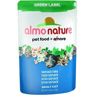 Almo Nature Green Label Skipjack Tuna Adult Grain-Free Cat Food Pouches, 1.94-oz, case of 24