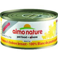 Almo Nature Legend 100% Natural Chicken Breast Adult Grain-Free Canned Cat Food, 2.47-oz, case of 24