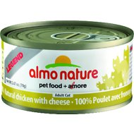 Almo Nature Legend 100% Natural Chicken with Cheese Adult Grain-Free Canned Cat Food, 2.47-oz, case of 24