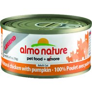 Almo Nature Legend 100% Natural Chicken with Pumpkin Adult Grain-Free Canned Cat Food, 2.47-oz, case of 24